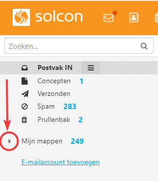 solcon webmail mappen